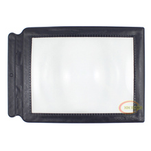 full page large card magnifier with PU leather