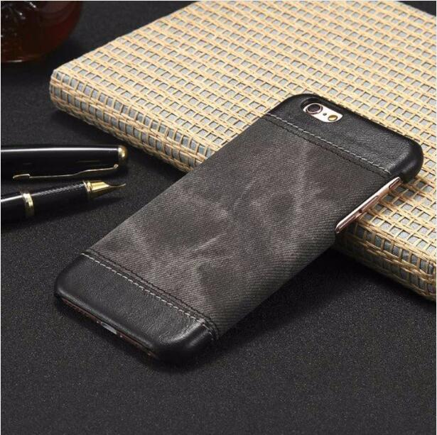 2017 Newly Listed Dropshipping Wholesale PU Leather Jeans Case for Apple Iphone 7 6S 5SE,Cowboy Denim Cover for Samsung S6 S7