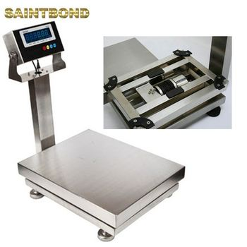 Stable performance LCD platform scale 1000kg electronic weighing scale heavy duty
