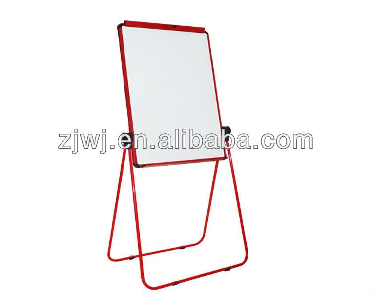 U dupla- face placa branca flipchart dobrável lado dupla seca apagar ardósia preta placas de giz de artigos de papelaria