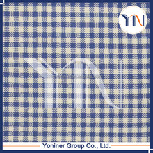 Navy blue checks fabric/ polyester fabric/ polyester print fabric
