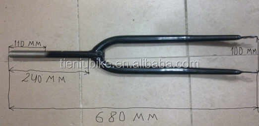 28 bicycle fork length 680mm length neck length 240mm weight 900gram