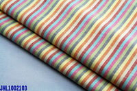 cotton/linen stripe fabrics in rainbow for shirting