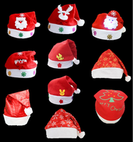 2017 Printed Cotton Christmas Hat Claus