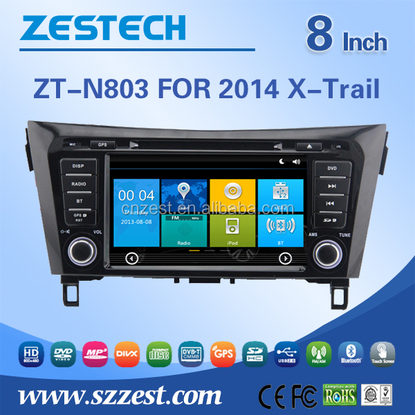 car radio for Nissan X-Trail Rogue 2014 car radio audio system with GPS Radio RDS 3G BT TV SWC car dvd multimedia system