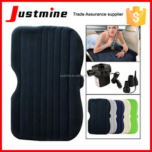Wholesale outdoor car traveling inflatable car bed with electric air pump PVC flocking cloth inflatable car bed