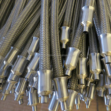 high pressure stainless steel flexible braided metal hose
