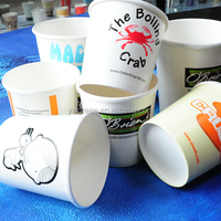 16 oz paper soup cup/ disposable paper soup container