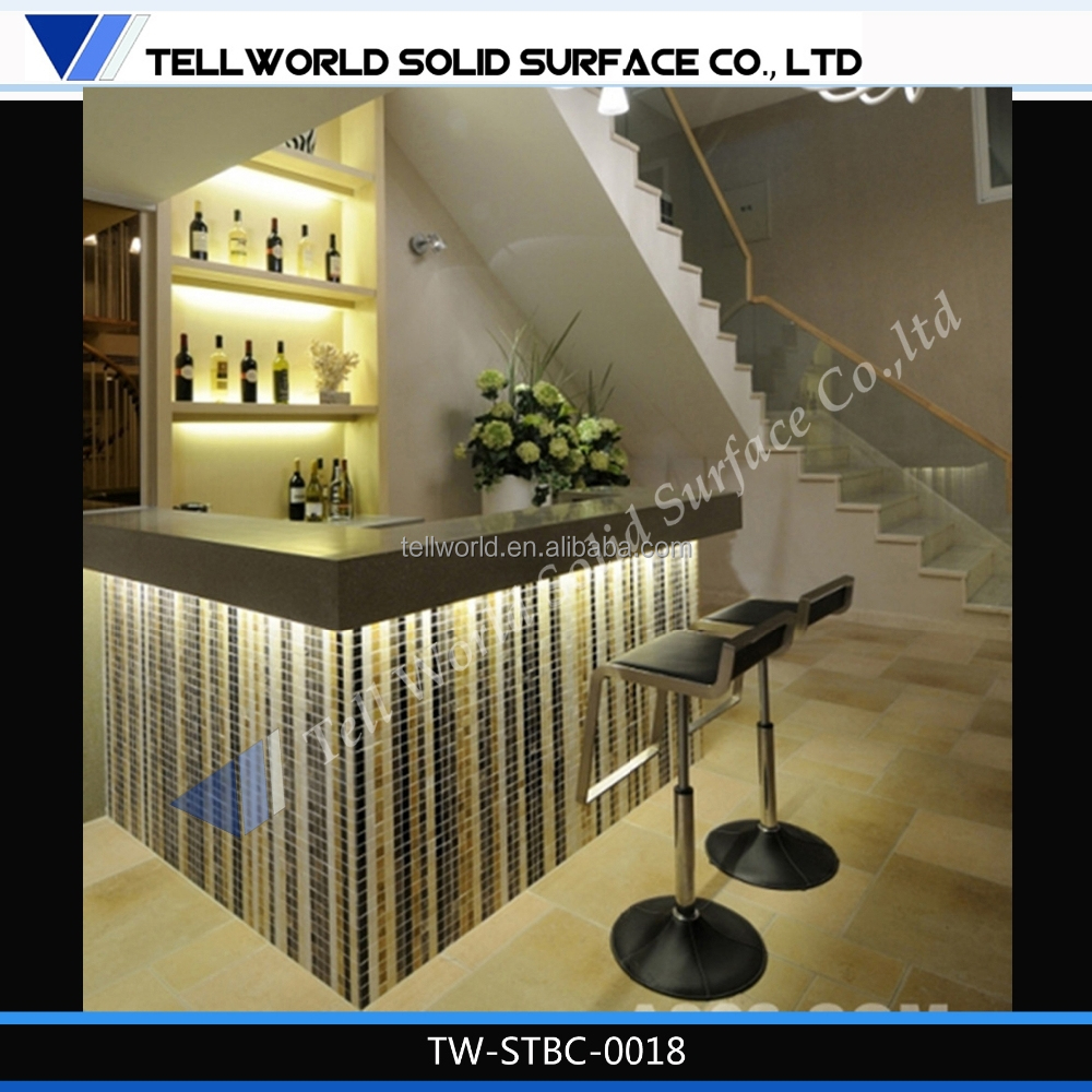 Modern commercial decoration marble materials bar for Meuble commercial