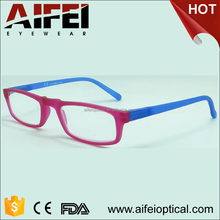 Double color slim rubber reading glasses for woman