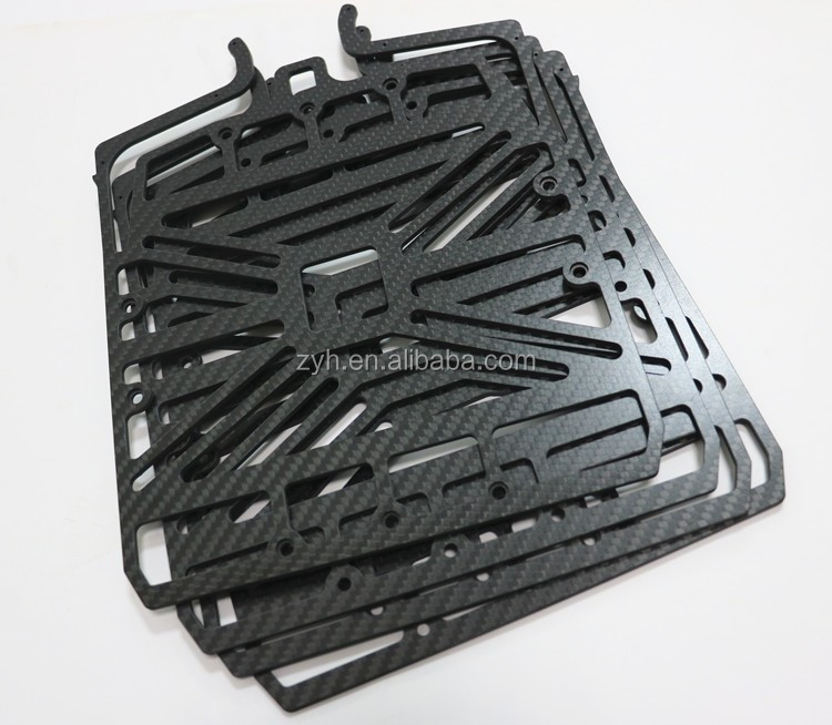 Custom quadcopter rc carbon fiber frame cnc parts for drone