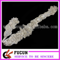 Gorgeous Bridal Applique Pearl Diamante Applique Beaded Motif Rhinestone Trim