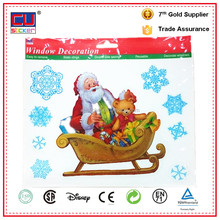 Christmas wallpaper home decoration window static cling decal