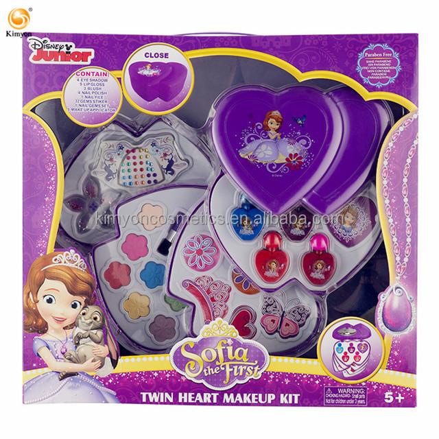 Disney Sofia Non-Toxic Children Cosmetics Princess Makeup Box Set Girl Toys Birthday Gift