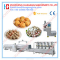 High efficiency meatball boiling and cooling line