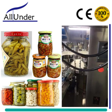 automatic preserved/brine pickled olives/vegetable/chilli/pepper/cucumber/cabbage/garlic jars bottling filler/filling machine