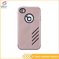 wholesale pc with tpu hybrid armor rose gold color mobile phone case for apple iPhone 4 4s 4G
