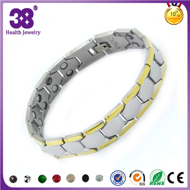 Magnetic arthritis pain relief silver bracelets for men