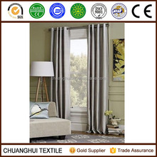 2 Panel Faux Silk Dupioni Blackout Lined Grommet Eyelet RingTop Curtains Drapes