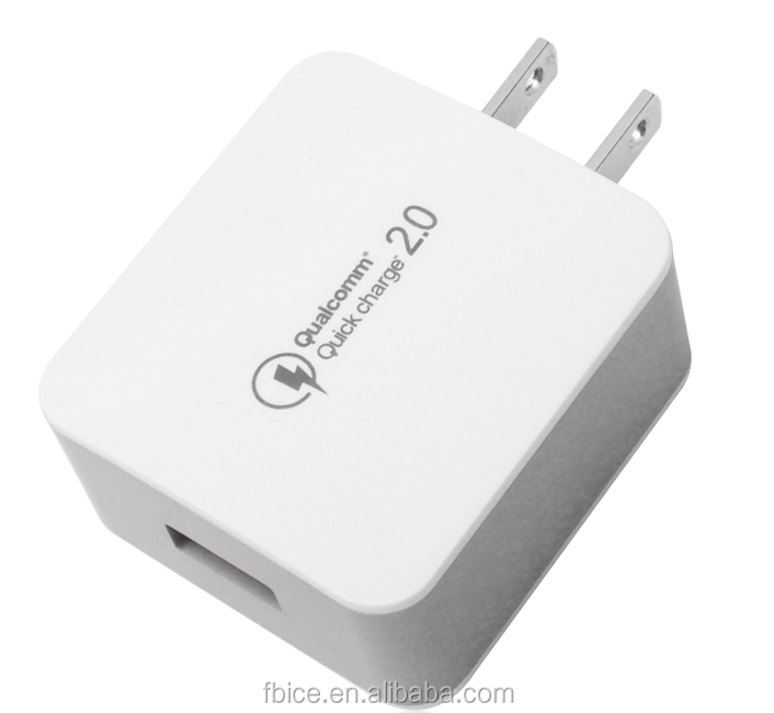 QC3.0 quickly charge Portable mobile phone travel mini dual usb battery wall adapter charger