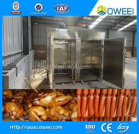 50-1000 kg/Furnace Delicious Sausage Chicken Fish Duck Bacon professional sausage smoking oven