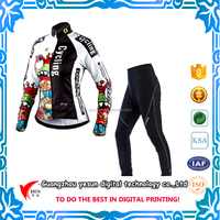 custom digital printing mountain bike suits/ running suits guangzhou