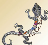 European house iron lizard ornament wall decoration