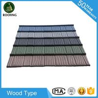 Colorful Wood roofing tile for house,metal roofing for house design