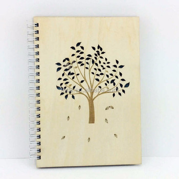 Wholesale office used personalized wood cover notebook