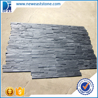 Black slate culture stone retaining walls ledger panels decorative wall covering panels price
