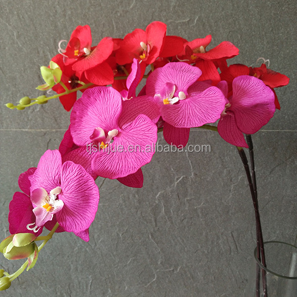wholesale silk <strong>flowers</strong> artificial orchids phalaenopsis