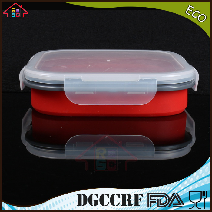 Food Container with Lid Silicone Collapsible Lunch Box storage box