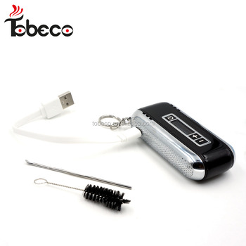 tobeco new design dry herb vaporizer hookah with best price Car key dry herb vaporizer