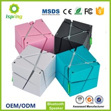 Factory Price Customized Portable Magic Square Cube Mini Blue Tooth Bluetooth Speaker with Led Light