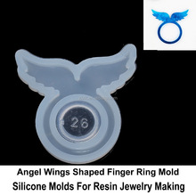 Angel Wings Finger Ring Liquid Photopolymer Resin Wax Ring Molds Jewelry Casting Mold