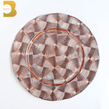 tableware restaurants bulk serving plate rose gold glass charger plates wedding