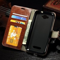 Luxury Leather Flip Case Cover For Alcatel One Touch Pop C7