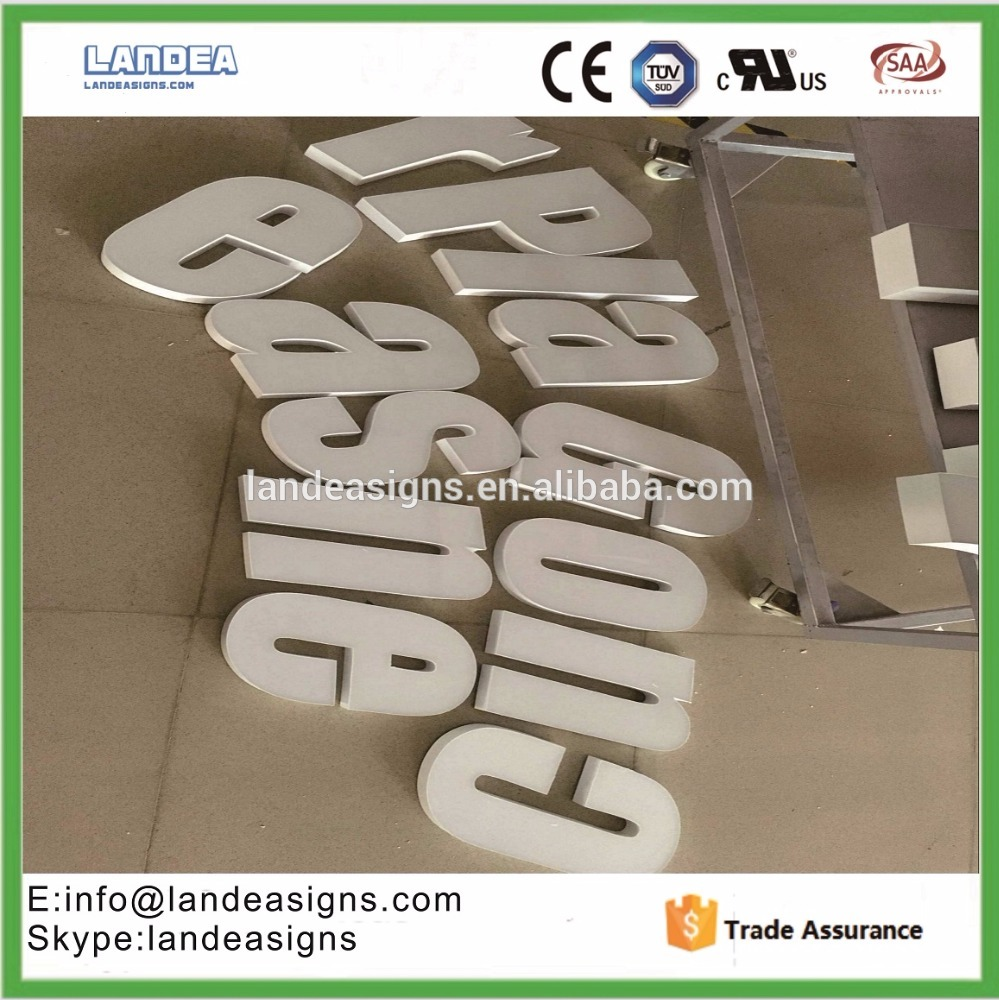 Factory Supplier carved metal alphabet 3d metal letter signs With Long-term Technical Support