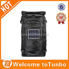 new product outdoor big rolling solar power backpack