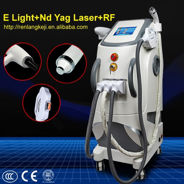 laser hair and tattoo removal machine/e light+rf+laser multifunction beauty machine for sale