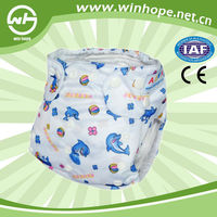 Hot Sale reusable washable cloth like film baby diaper