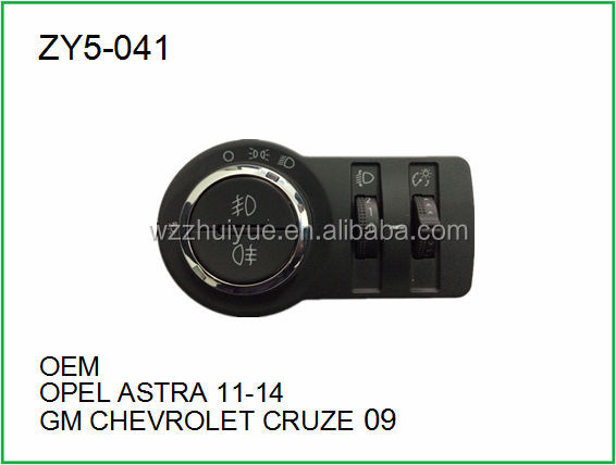 Head Light Switch OPEL ASTRA 11-14 GM CHEVROLET CRUZE 09