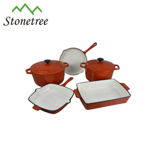 South Africa Porcelain Coated Enamel Coating Cast Iron Cookware