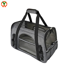 luxury airline approved pet carrier pet travel bag with fleece padded mat