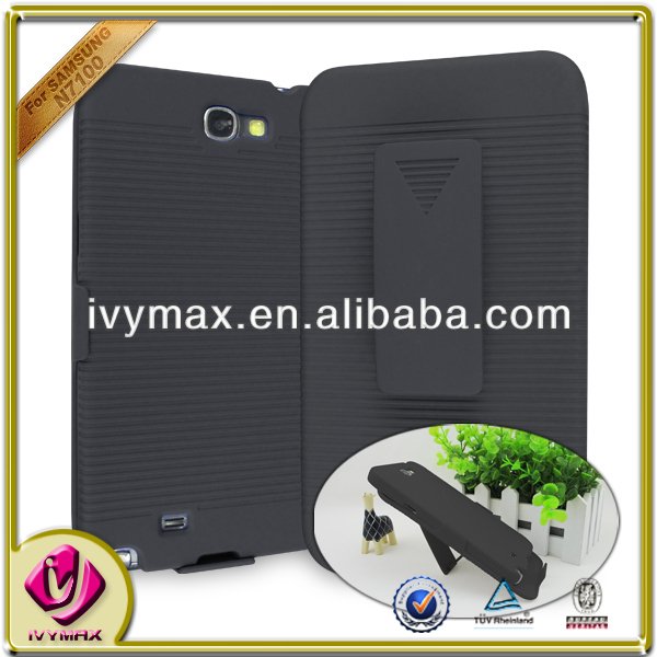 for samsung galaxy note2 /n7100 holster pc hard case