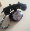 Black Mini Telephone Antique Style Vintage Telephone Fixed