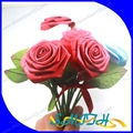 High quality artificial red ribbon flower bouquet