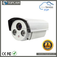 720P CMOS IP Waterproof Camera With 6mm Fixed Lens Array Led 2pcs