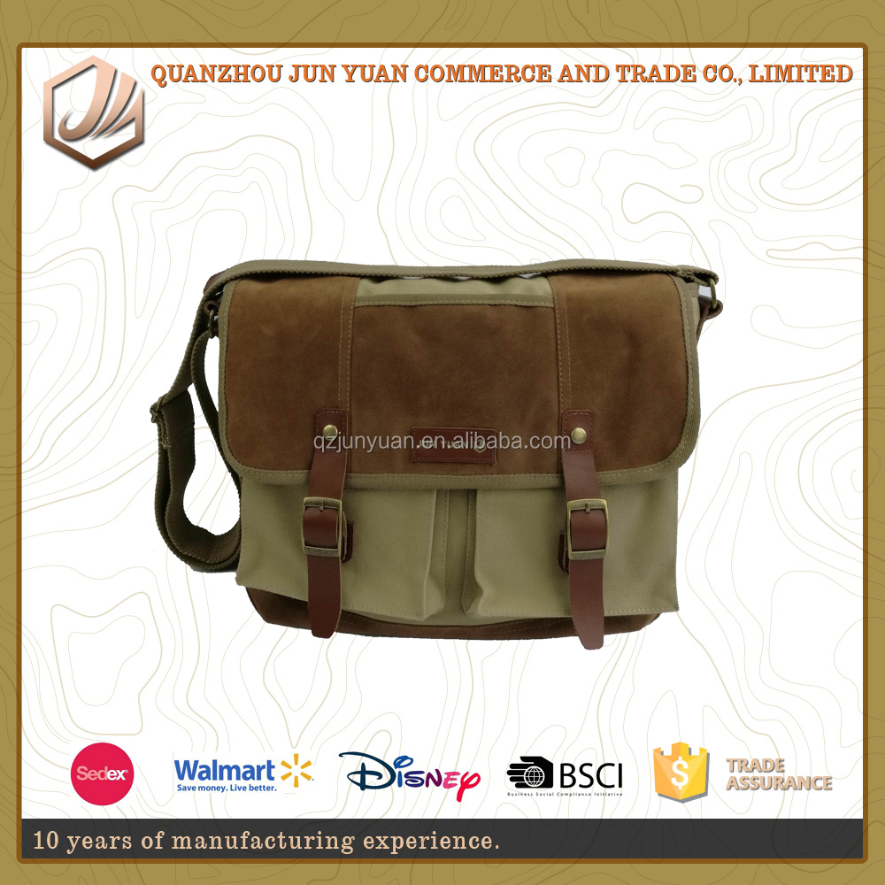 The most popular messenger canvas laptop bag with fashion design