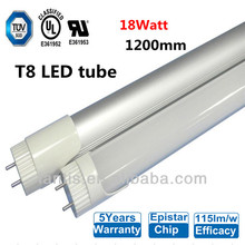 2014 Top seller Epistar SMD3014 115lm/w t8 tube light, 5 years warranty t8 8tube 1200m t8 fluorescent to led conversion